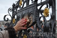 Charles Bridge - relic St John of Nepomuk