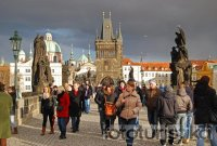 Tourists on the Charles Bridge